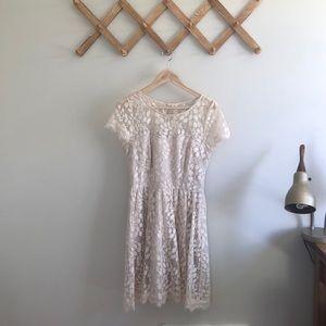 Lauren Conrad Cream Lace Dress